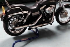 Motorcycle cruiser wheel jack