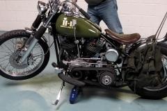 Harley Bobber wheel jack
