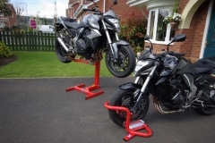 Motorcycle paddock stands and lifts