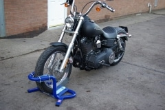 Harley parking stand